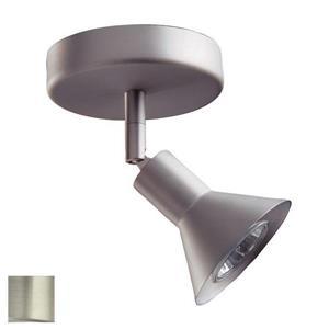 Kendal Lighting 5-in Satin Nickel 1-Light Dimmable Standard Flush Mount Fixed Track Light Kit