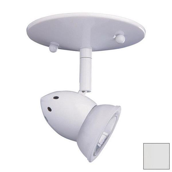 Kendal Lighting 5-in White 1-Light Flush Mount Fixed Track Light Kit