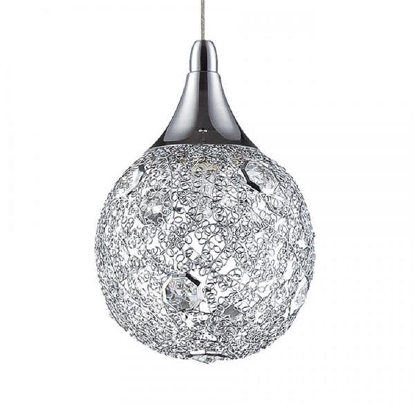 Kendal Lighting 5.00-in Satin Nickel Modern Globe 5-Light Pendant