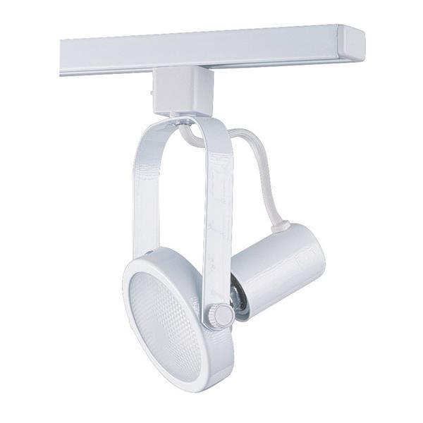 Kendal Lighting 1-Light White Gimbal Linear Track Lighting Head