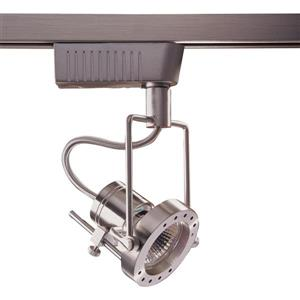 Kendal Lighting 1-Light Satin Nickel Gimbal Linear Track Lighting Head