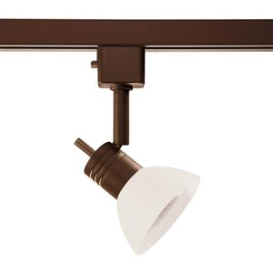 Kendal Lighting 1-Light Oil Rubbed Bronze Step Linear Track Lighting Head