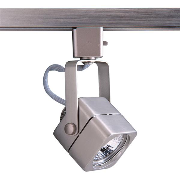Kendal Lighting 1-Light Brushed Steel Pinhole Linear Track Lighting Head