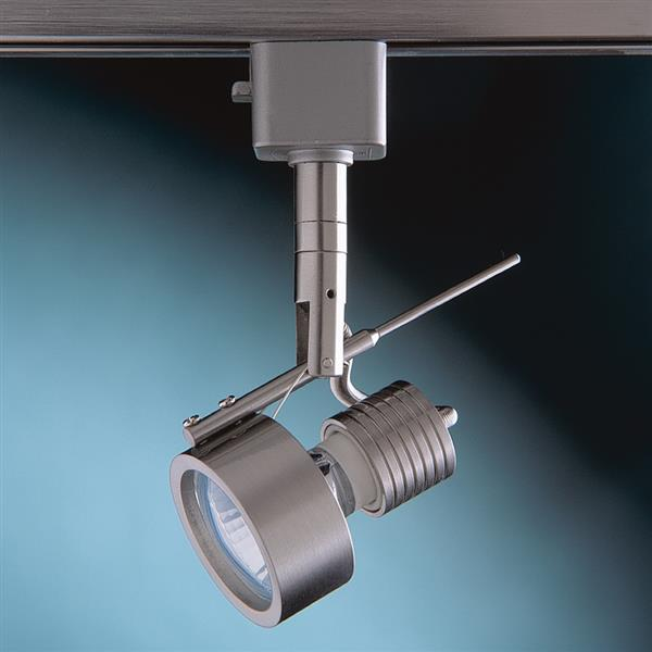 Kendal Lighting 1-Light Satin Nickel Step Linear Track Lighting Head