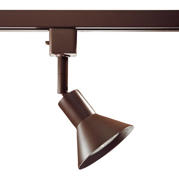 Kendal Lighting 1-Light Oil Rubbed Bronze Step Linear Track Lighting Head