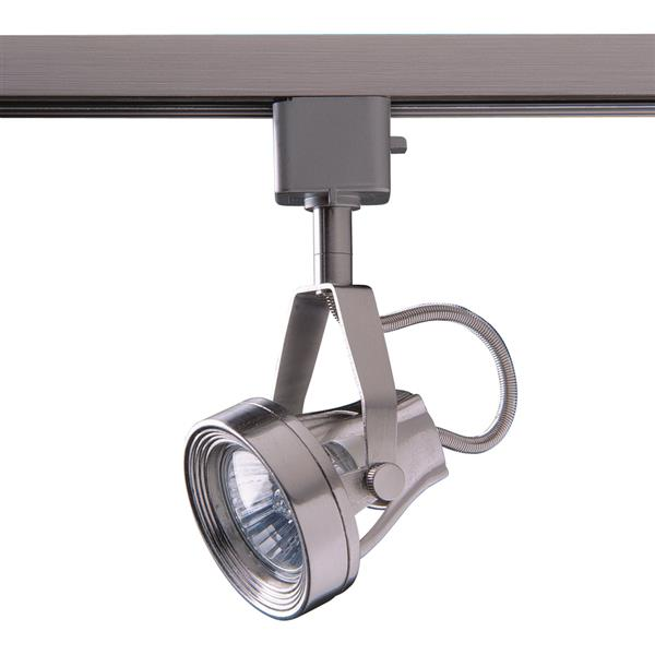 Kendal Lighting 1-Light Satin Nickel Step Linear Track Lighting Head