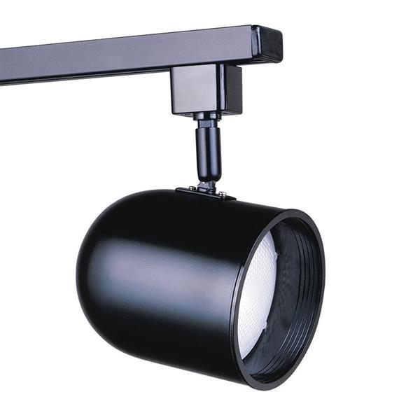 Kendal Lighting 1-Light Black Roundback Linear Track Lighting Head