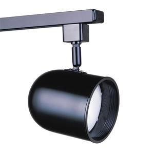 Kendal Lighting 1-Light Black Roundback Linear Track Lighting Head