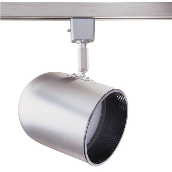 Kendal Lighting 1-Light Brushed Steel Roundback Linear Track Lighting Head