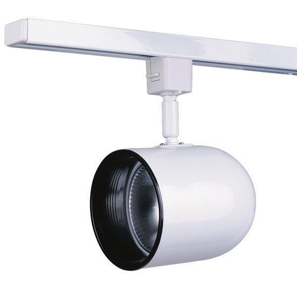 Kendal Lighting 1-Light White Roundback Linear Track Lighting Head