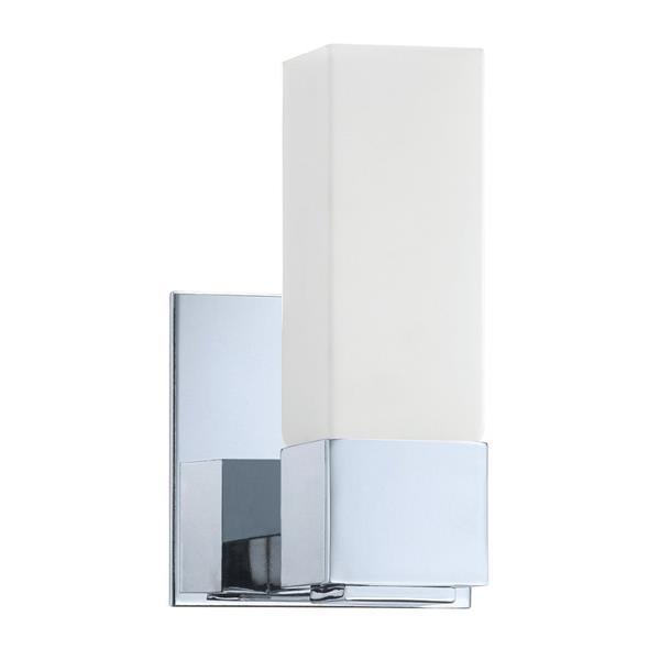 Kendal Lighting Madison 5-in Chrome 1-Light Rectangle Vanity Light