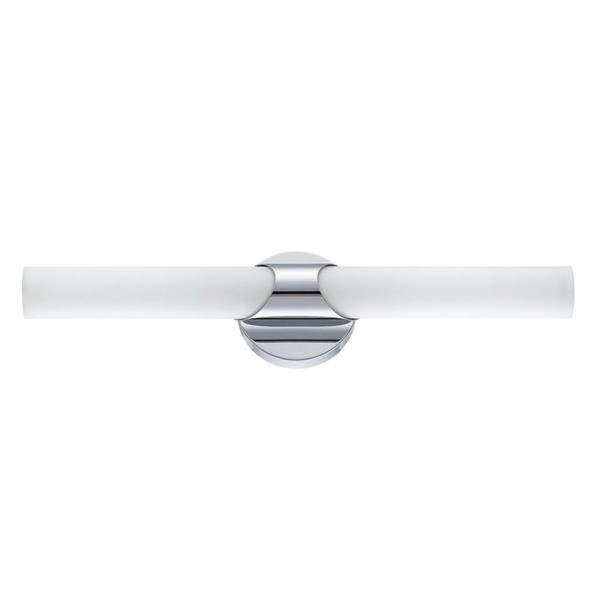 Kendal Lighting Alina 18-in Chrome 2-Light Cylinder Vanity Light