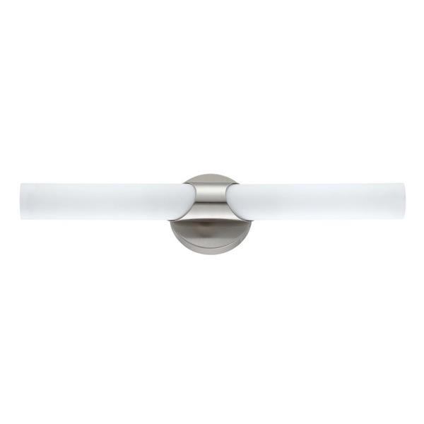 Kendal Lighting Alina 18-in Satin Nickel 2-Light Cylinder Vanity Light