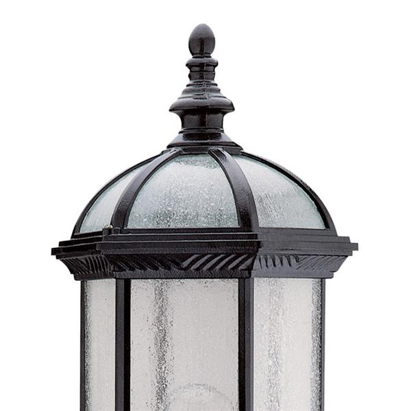 DVI Hexagon 21-in Black Seedy Glass Outdoor Wall Light