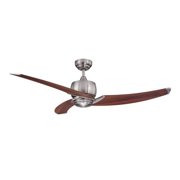 Kendal Lighting Treo 52-in Satin Nickel 3 Blade Indoor Ceiling Fan with Light Kit and Remote