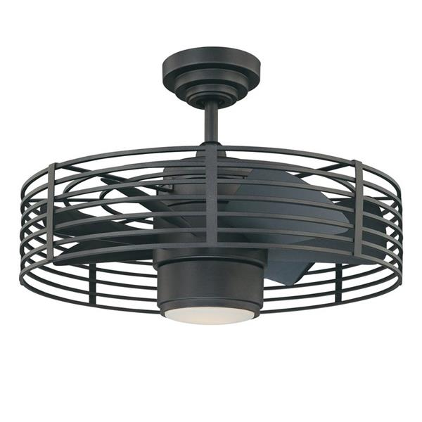 Kendal Lighting Enclave 23-in Natural Iron 7 Blade Indoor Ceiling Fan with Light Kit and Remote