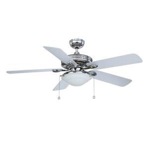 Kendal Lighting Builder's Choice 52-in Polished Nickel Indoor Ceiling Fan with Light Kit (5 Blade)