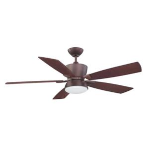 Kendal Lighting Avalon 52-in Oil-Brushed Bronze Indoor Ceiling Fan with Light Kit and Remote (3 Blade)