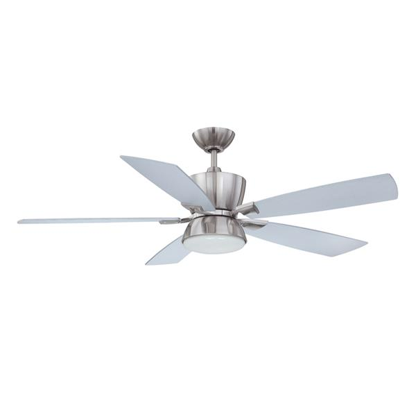 Kendal Lighting Avalon 52-in Satin Nickel Indoor Ceiling Fan with Light Kit and Remote (3 Blade)