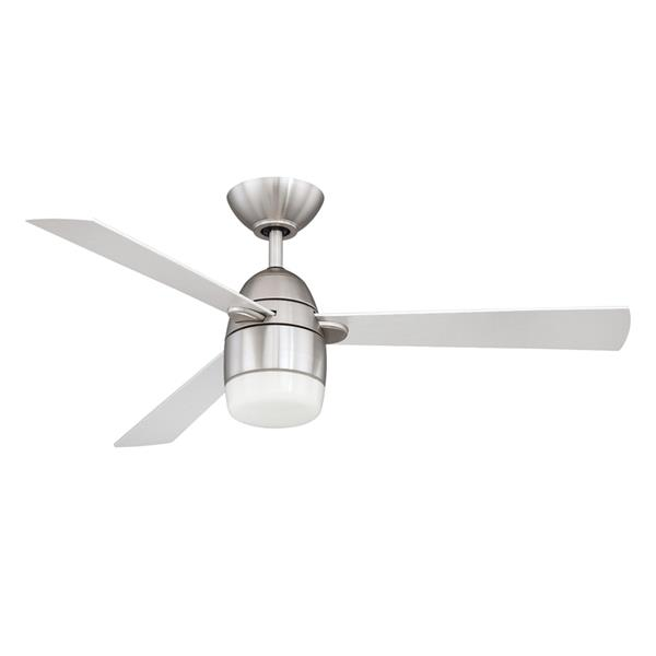 Kendal Lighting Antron 42-in Satin Nickel 3 Blade Indoor Ceiling Fan with Light Kit and Remote