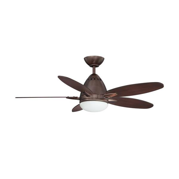 Kendal Lighting Navaton 44-in Oil-Brushed Bronze Indoor Ceiling Fan with Light Kit and Remote (5 Blade)