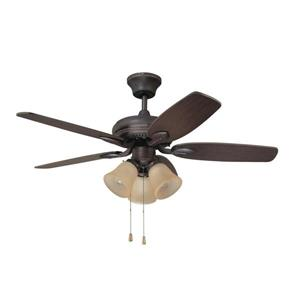 Kendal Lighting Cordova 42-in Copper Bronze Indoor Ceiling Fan with Light Kit (5 Blade)