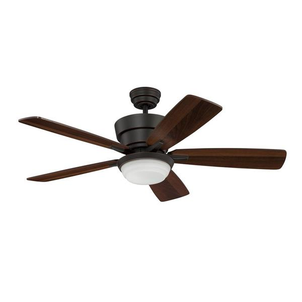 Kendal Lighting 44-in Barcelona Bronze Indoor Ceiling Fan with Light Kit and Remote (5 Blade)