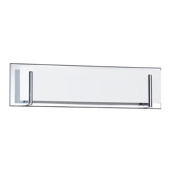 Kendal Lighting Aurora 4-Light 24-in Chrome Rectangle Vanity Light Bar
