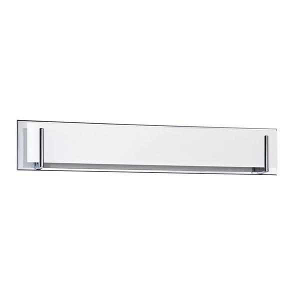 Kendal Lighting Aurora 36-in Chrome 6-Light Rectangle Vanity Light Bar