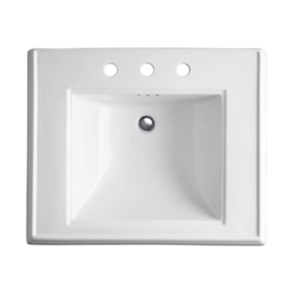 KOHLER Memoirs 27-in White Pedestal Sink