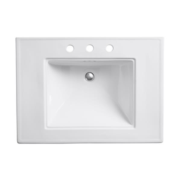 KOHLER Memoirs 30-in White Pedestal Sink