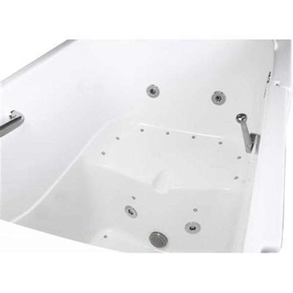 "Bain plain-pied Aquam, 55"" x 33"", blanc"