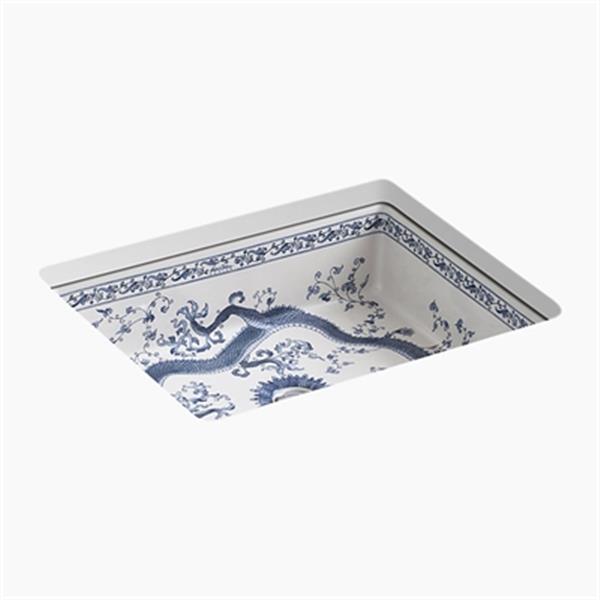 KOHLER Imperial Blue 19.75-in White Kathryn Undermount Bathroom Sink