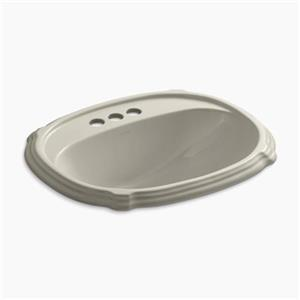 KOHLER Portrait 22.63-in Sandbar Self-Rimming Sink