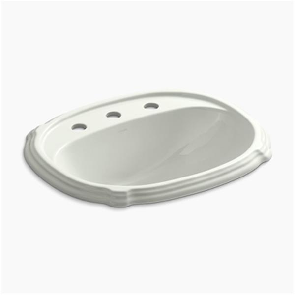 KOHLER Portrait 8.88-in x 22.63-in Dune Self Rimming Sink