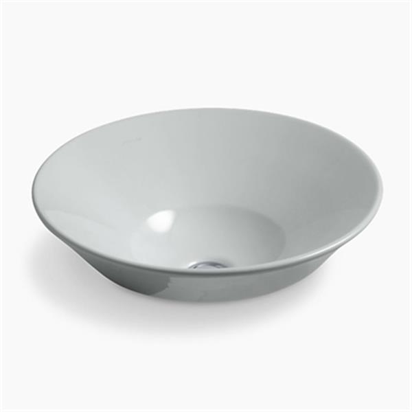 KOHLER Conical 6.38-in x 16.25-in Ice Grey Bell Vessel  Sink