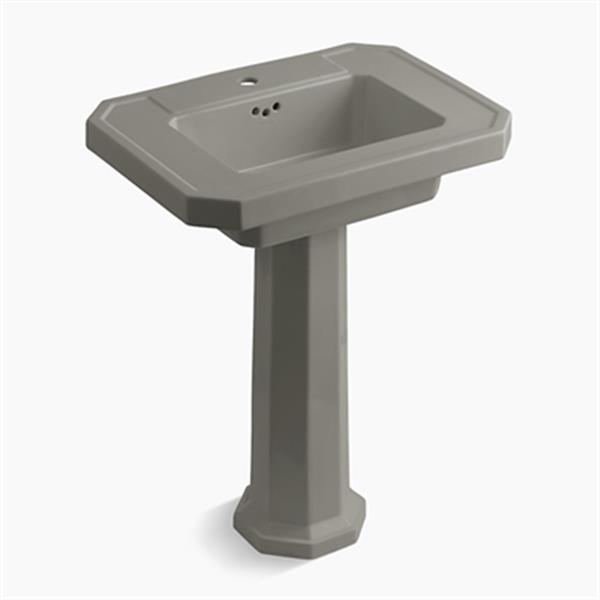 KOHLER Kathryn 35-in x 27-in Cashmere Pedestal Lavatory Sink