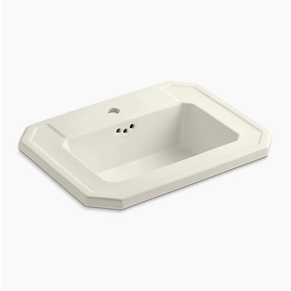 KOHLER Kathryn 24-in x 7.88-in Biscuit Self Rimming Sink