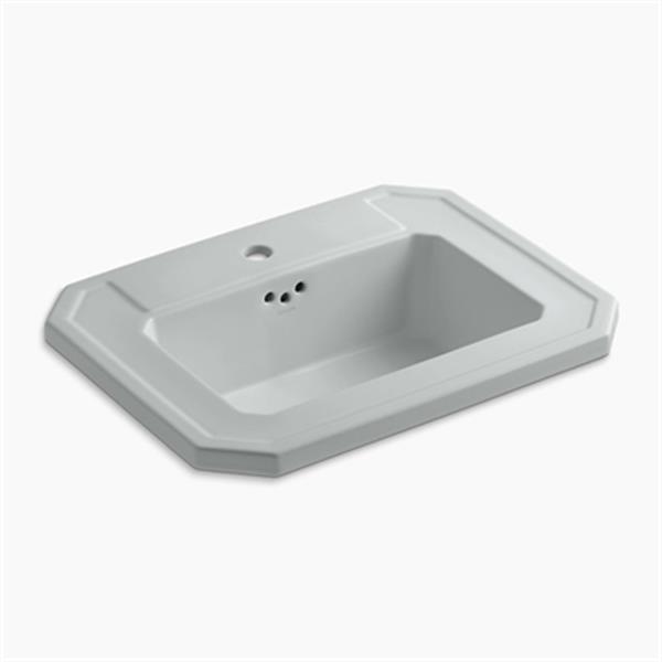 KOHLER Kathryn 24-in x 7.88-in Ice Grey Self Rimming Sink