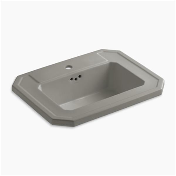 KOHLER Kathryn 24-in x 7.88-in Cashmere Self Rimming Sink