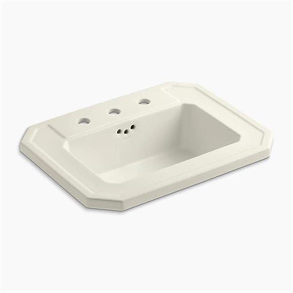 KOHLER Kathryn 24-in x 7.88-in Biscuit Self Rimming Sink