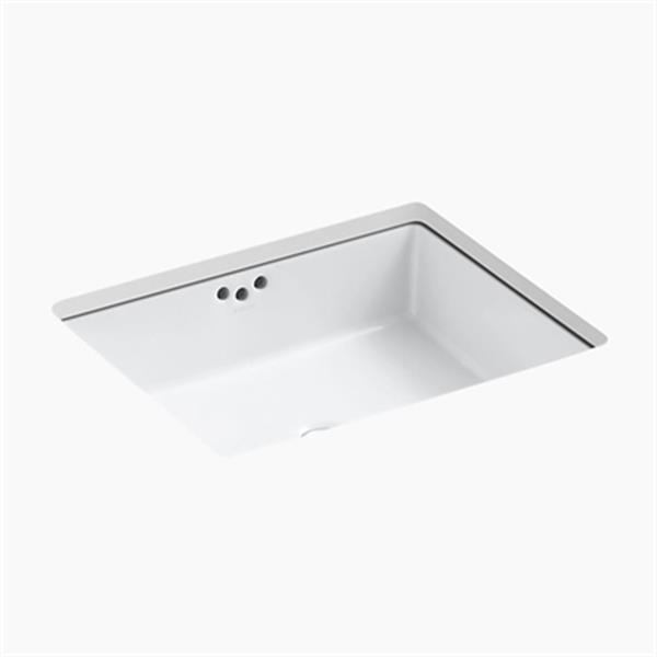 KOHLER Kathryn 19.75-in x 6.25-in White Under Counter Sink