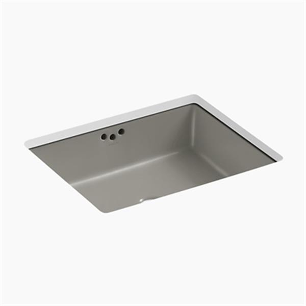 KOHLER Kathryn 19.75-in x 6.25-in Cashmere Under Counter Sink