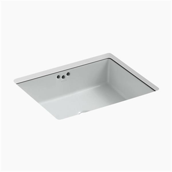 KOHLER Kathryn 19.75-in x 6.25-in Ice Grey Under Counter Sink