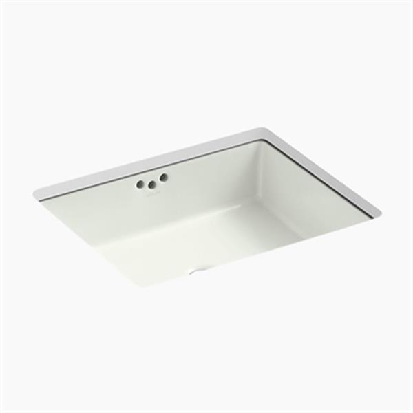 KOHLER Kathryn 19.75-in x 6.25-in Off White Under Counter with Glazed Underside
