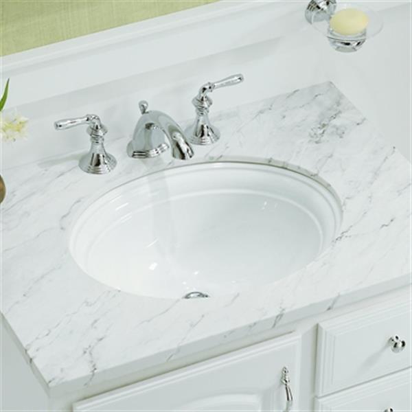 KOHLER Devonshire  20.5-in x 8.62-in White Undercounter  Sink