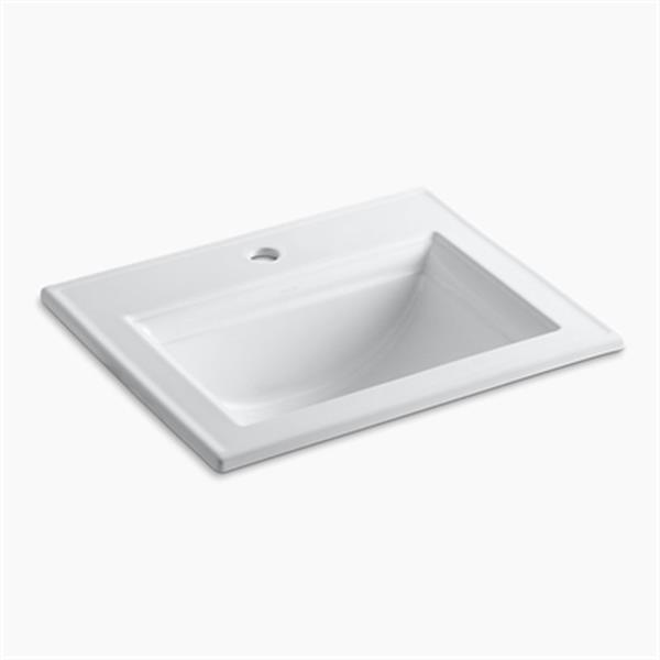 KOHLER Memoirs 22.75-in White Self-Rimming Sink with Stately Design