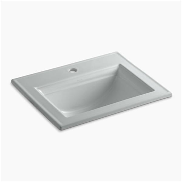 KOHLER Memoirs 22.75-in Ice Grey Self-Rimming Sink with Stately Design