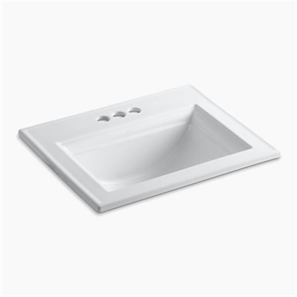 KOHLER Memoirs 22.75-in White Self-Rimming Sink with Stately Design