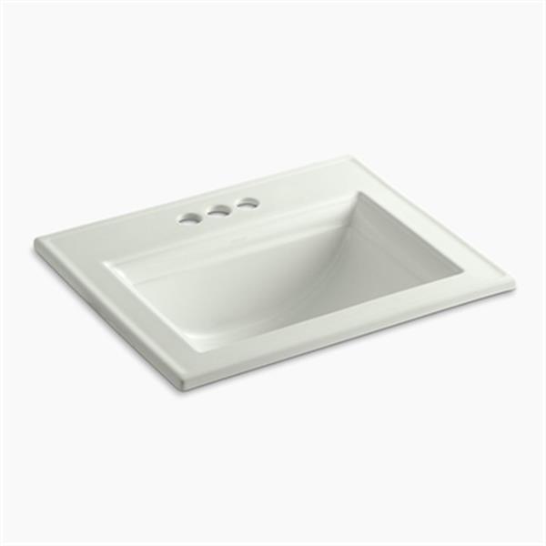 KOHLER Memoirs 22.75-in Dune Self-Rimming Sink with Stately Design